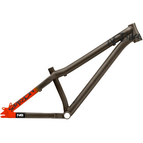 NS Bikes Decade Rahmen dark raw/fluo orange
